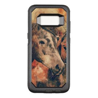 Funda Commuter De OtterBox Para Samsung Galaxy S8 Acuarela artística de los caballos que pinta