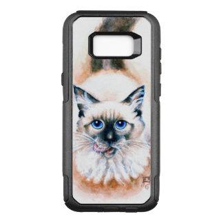 Funda Commuter De OtterBox Para Samsung Galaxy S8+ Acuarela del gato siamés