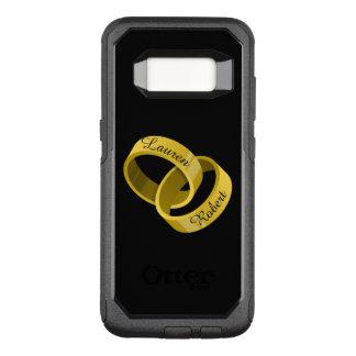 Funda Commuter De OtterBox Para Samsung Galaxy S8 Anillos de bodas que entrelazan - nombres de