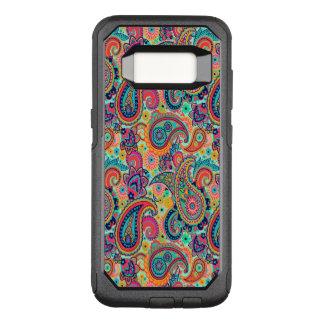 Funda Commuter De OtterBox Para Samsung Galaxy S8 Arco iris brillante Paisley