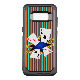 Funda Commuter De OtterBox Para Samsung Galaxy S8 As en fondo retro
