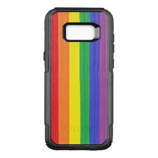 Funda Commuter De OtterBox Para Samsung Galaxy S8+ Bandera pintada del arco iris