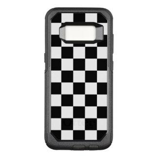 Funda Commuter De OtterBox Para Samsung Galaxy S8 Blanco a cuadros clásico del negro del control de