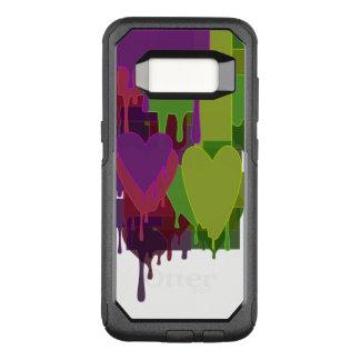 Funda Commuter De OtterBox Para Samsung Galaxy S8 Bloques del color que derriten corazones