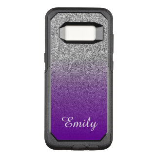 Funda Commuter De OtterBox Para Samsung Galaxy S8 Brillo de plata Ombre púrpura violeta