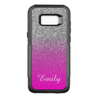 Funda Commuter De OtterBox Para Samsung Galaxy S8+ Brillo de plata Ombre rosado de neón personalizado