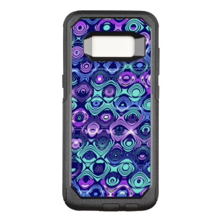 Funda Commuter De OtterBox Para Samsung Galaxy S8 Caja abstracta púrpura y azul de Samsung S8