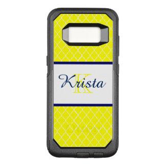 Funda Commuter De OtterBox Para Samsung Galaxy S8 Caja amarilla del teléfono del monograma de la