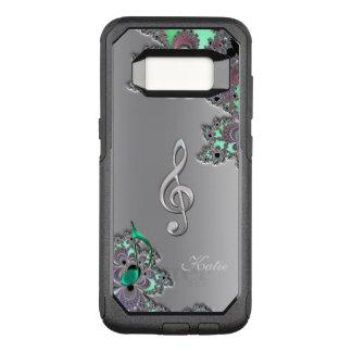 Funda Commuter De OtterBox Para Samsung Galaxy S8 Caja de la galaxia S8 del Clef de la música del