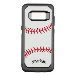 Funda Commuter De OtterBox Para Samsung Galaxy S8 Caja de la nutria del diseño del béisbol