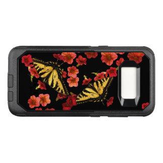 Funda Commuter De OtterBox Para Samsung Galaxy S8 Caja roja de la galaxia S8 de OtterBox de la flor