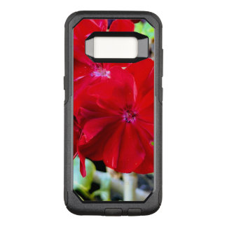 Funda Commuter De OtterBox Para Samsung Galaxy S8 Caja roja del teléfono de la flor