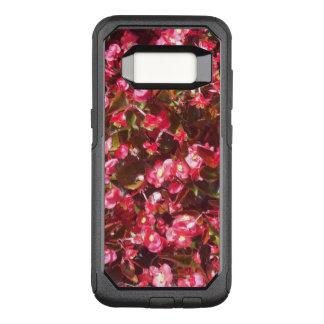 Funda Commuter De OtterBox Para Samsung Galaxy S8 Caja roja del viajero de Otterbox de las begonias