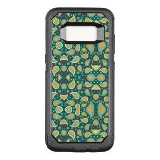 Funda Commuter De OtterBox Para Samsung Galaxy S8 Caja verde de la galaxia S8 Otterbox de Paisley