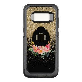 Funda Commuter De OtterBox Para Samsung Galaxy S8 Cascadas del brillo del oro con el monograma
