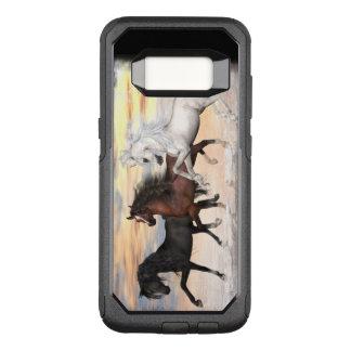 Funda Commuter De OtterBox Para Samsung Galaxy S8 Caso de 3 de los caballos series del viajero,