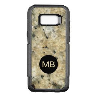 Funda Commuter De OtterBox Para Samsung Galaxy S8+ Caso de piedra del monograma de la mirada