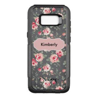 Funda Commuter De OtterBox Para Samsung Galaxy S8+ Casos florales del monograma