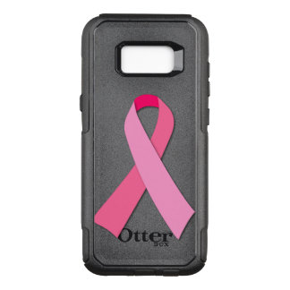Funda Commuter De OtterBox Para Samsung Galaxy S8+ Cinta rosada para la conciencia del cáncer de