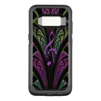 Funda Commuter De OtterBox Para Samsung Galaxy S8 Clef púrpura de la música en galaxia púrpura verde