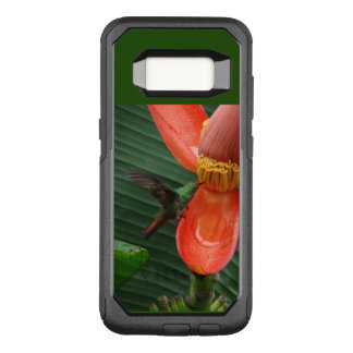 Funda Commuter De OtterBox Para Samsung Galaxy S8 Colibrí con la caja del teléfono móvil de la flor