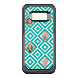 Funda Commuter De OtterBox Para Samsung Galaxy S8 Collage geométrico moderno de 4 fotos en trullo
