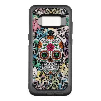 Funda Commuter De OtterBox Para Samsung Galaxy S8 Cordón negro y cráneo colorido del azúcar