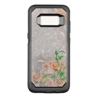Funda Commuter De OtterBox Para Samsung Galaxy S8 Damasco inglés Toule de los rosas del melocotón