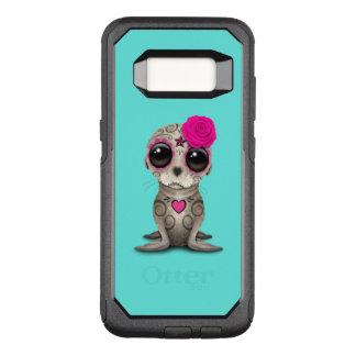 Funda Commuter De OtterBox Para Samsung Galaxy S8 Día rosado del león marino muerto del bebé