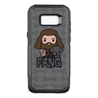 Funda Commuter De OtterBox Para Samsung Galaxy S8+ Dibujo animado Hagrid y arte del carácter del