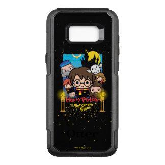 Funda Commuter De OtterBox Para Samsung Galaxy S8+ Dibujo animado Harry Potter y la piedra del