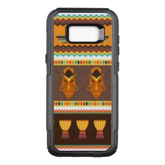 Funda Commuter De OtterBox Para Samsung Galaxy S8+ Diseño africano del modelo del tambor de la