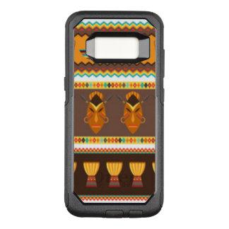 Funda Commuter De OtterBox Para Samsung Galaxy S8 Diseño africano del modelo del tambor de la