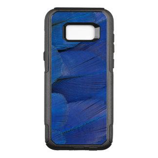 Funda Commuter De OtterBox Para Samsung Galaxy S8+ Diseño azul de la pluma del Macaw del jacinto