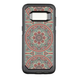 Funda Commuter De OtterBox Para Samsung Galaxy S8 Diseño floral rojo y verde de la mandala