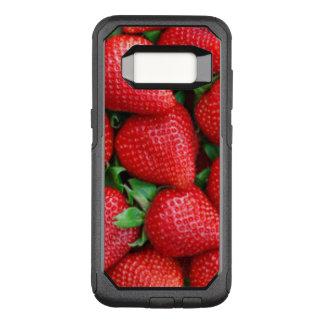 Funda Commuter De OtterBox Para Samsung Galaxy S8 Diseño rojo del modelo de las fresas