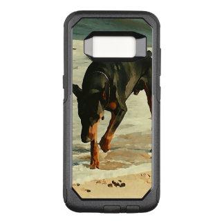 Funda Commuter De OtterBox Para Samsung Galaxy S8 Doberman en la imagen de la pintura de la playa