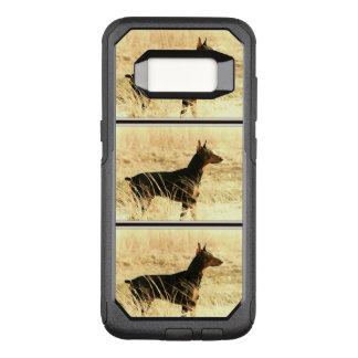 Funda Commuter De OtterBox Para Samsung Galaxy S8 Doberman en las cañas secas que pintan imagen