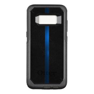 Funda Commuter De OtterBox Para Samsung Galaxy S8 El aspecto de madera negro enrarece Blue Line