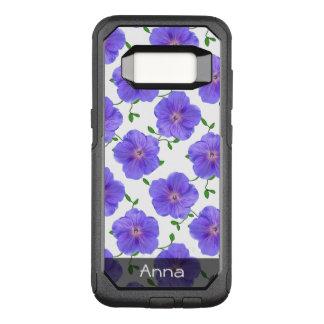 Funda Commuter De OtterBox Para Samsung Galaxy S8 El jardín azul romántico florece el modelo
