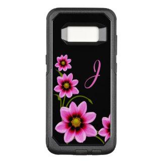 Funda Commuter De OtterBox Para Samsung Galaxy S8 El rosa florece la caja con monograma de Otterbox