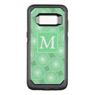 Funda Commuter De OtterBox Para Samsung Galaxy S8 El verde de la primavera del monograma circunda el