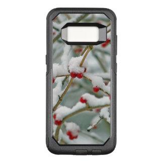 Funda Commuter De OtterBox Para Samsung Galaxy S8 Escena roja del invierno de las bayas Nevado