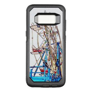 Funda Commuter De OtterBox Para Samsung Galaxy S8 Esquema de la Rueda-Tiza de Ferris de Shirley