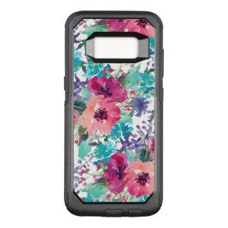 Funda Commuter De OtterBox Para Samsung Galaxy S8 Estampado de flores colorido de la acuarela