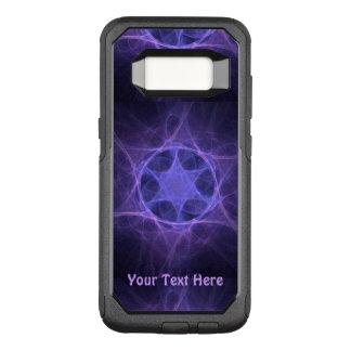 Funda Commuter De OtterBox Para Samsung Galaxy S8 Estrella púrpura del fractal de David