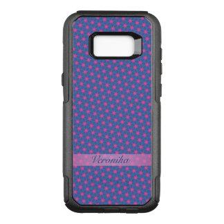 Funda Commuter De OtterBox Para Samsung Galaxy S8+ Estrellas del rosa en un fondo azul