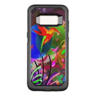 Funda Commuter De OtterBox Para Samsung Galaxy S8 Extracto colorido de los colibríes y de las