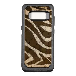 Funda Commuter De OtterBox Para Samsung Galaxy S8 Extracto oscuro de la cebra del chocolate