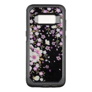 Funda Commuter De OtterBox Para Samsung Galaxy S8 Falln que conecta en cascada las flores rosadas